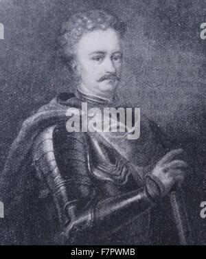 John III Sobieski (Jan III Sobieski). 1629 – 1696), from 1674 until his death King of Poland and Grand Duke of Lithuania, - Stock Photo