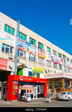 Restaurant, offices, SAPA, the Vietnamese market, Libus, Prague, Czech Republic - Stock Photo