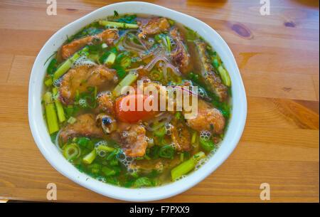 Pho Ca, Vietnamese fish soup, SAPA, the Vietnamese market, Libus, Prague, Czech Republic - Stock Photo