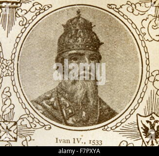 Ivan IV Vasilyevich (1530 – 1584), Ivan the Terrible. Grand Prince of Moscow from 1533 to 1547 and Tsar of All the - Stock Photo