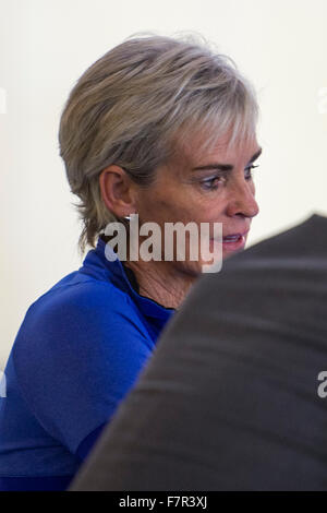 London, UK. 02nd Dec, 2015. Judy Murray shows her support for some of the athletes from great Britain at The NEC - Stock Photo