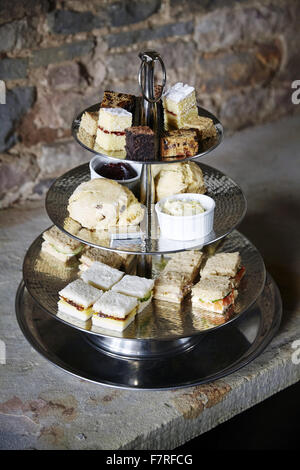 Afternoon tea at Lyme Park, House and Garden, Cheshire. Lyme Park sits in 1400 acres of parkland and has glorious - Stock Photo