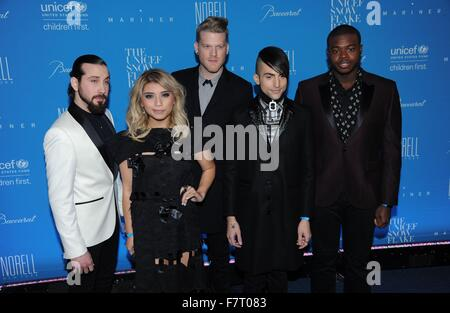 New York, NY, USA. 1st Dec, 2015. Pentatonix at arrivals for 11th Annual UNICEF Snowflake Ball, Cipriani Wall Street, - Stock Photo