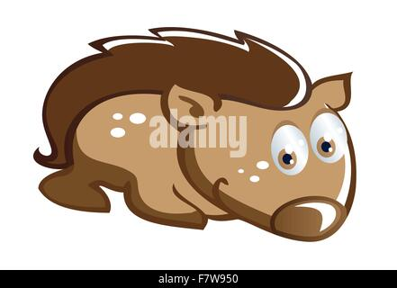 baby hedgehog cartoon - Stock Photo