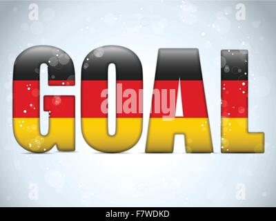 Germany Goal Soccer 2014 Letters with German Flag - Stock Photo