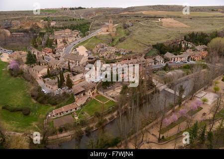 View from Alcazar de Segovia, Spain - Stock Photo