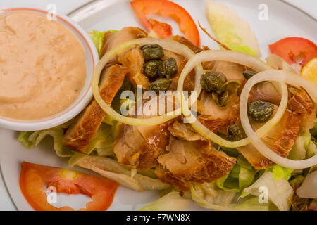 Marinated Snapper with vegetable dressing - Stock Photo