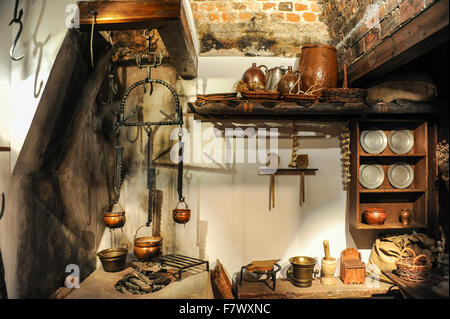 Interior of Dom Mikołaja Kopernika, Toruń, Poland - Stock Photo