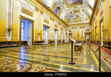 Italy Campania Caserta  Royal Palace ( Reggia di Caserta) ,Throne Room - Stock Photo