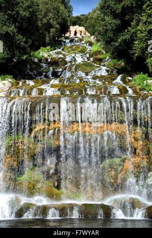 Italy Campania Caserta  Royal Palace ( Reggia di Caserta) -The Waterway, the Tower, Carlo Vanvitelli - Stock Photo
