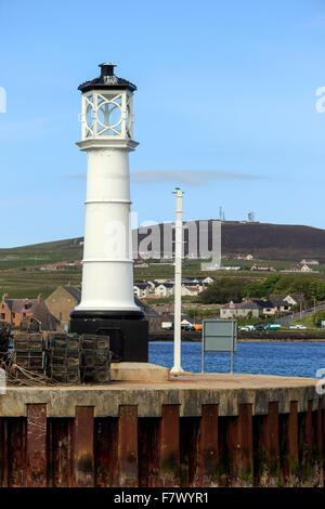 Lighthouse Kirkwall Harbour Orkney Islands Scotland UK - Stock Photo