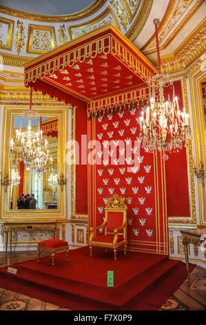 Throne Room in Royal Castle, Warsaw, Poland - Stock Photo