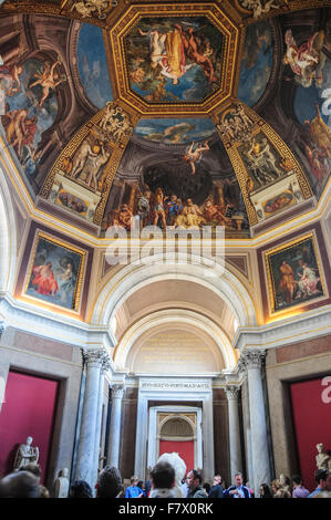 Ceiling Frescoes in Vatican Museums, Vatican - Stock Photo