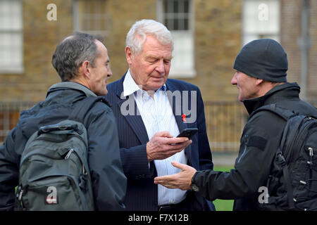 Paddy Ashdown, former leader Liberal Democratic Party, on College Green, Westminster, 2015 - Stock Photo
