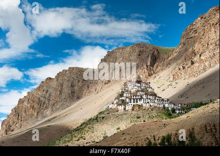 Ki Monastery, Spiti Valley, Himachal Pradesh, India - Stock Photo