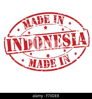 Made in Indonesia - Stock Photo