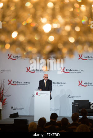 Berlin, Germany. 3rd Dec, 2015. President of Afghanistan Ashraf Ghani, speaking about the current challenges for - Stock Photo