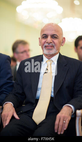 Berlin, Germany. 3rd Dec, 2015. President of Afghanistan Ashraf Ghani, pictured at an event organised by the Koerber - Stock Photo