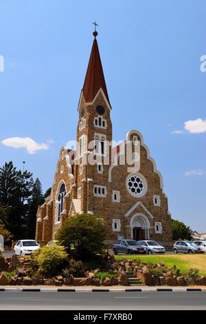 Lutheran Church of Christ (Christus Kirche) in Windhoek, Namibia - Stock Photo