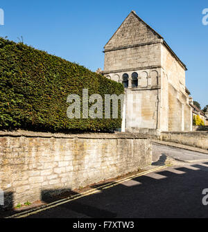 Saxon church of St Lawrence in Bradford on Avon Wiltshire - Stock Photo