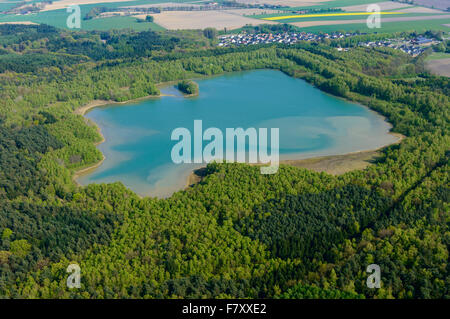 the dammer bergsee near damme (dümmer) from above, vechta district, niedersachsen, germany - Stock Photo