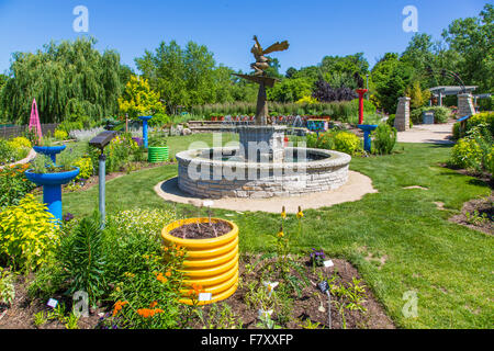 Rotary Botanical Gardens in Janesville Illinois Stock Photo ...