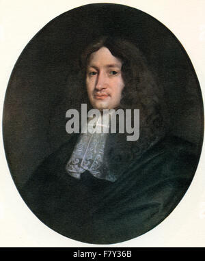 John Dryden, 1631 – 1700.   English poet, literary critic, translator, and playwright, made Poet Laureate in 1668. - Stock Photo