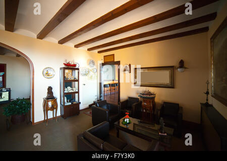 interior of luxury living room in victorian style - Stock Photo