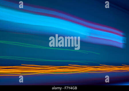 Blue abstract  background. Lines and curves concept of speed. Photo result - Stock Photo