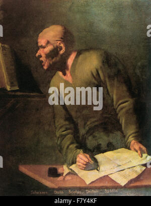 John Duns commonly called Duns Scotus, 1266 –1308.   Generally considered to be one of the three most important - Stock Photo