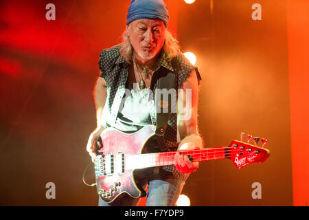 The O2, North Greenwich, London, UK, 3rd December 2015, Deep Purple at the O2 Arena, London, Roger Glover, Deep - Stock Photo