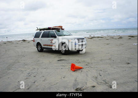 Lifeguard car parked - Stock Photo