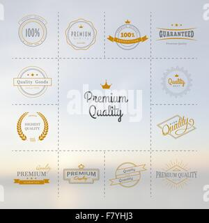 Premium quality labels set - Stock Photo
