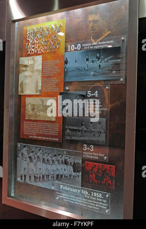 Memorial boards to remember the Munich air disaster,at Old Trafford,MUFC,Manchester United Football Club,England,UK - Stock Photo