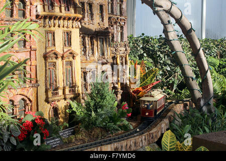 New York Botanical Gardenu0027s Holiday Train Show   Stock Photo