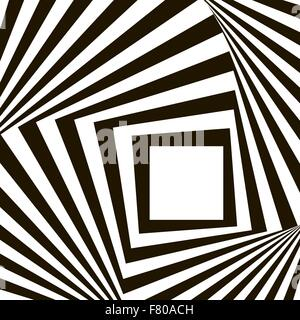Geometric Black and White Vector Pattern Stock Photo