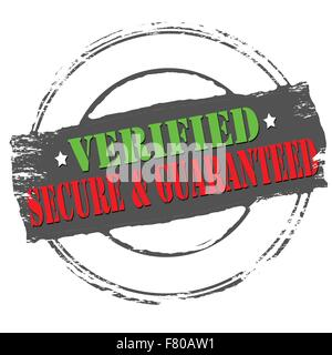 Verified secure and guaranteed - Stock Photo