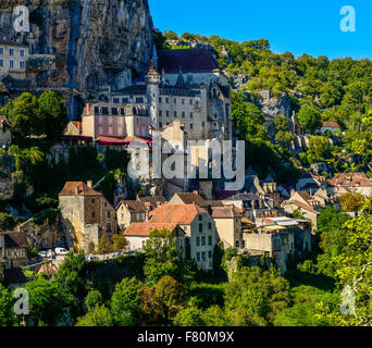 Rocamadour, Lot, Midi-Pyrenees, France - Stock Photo