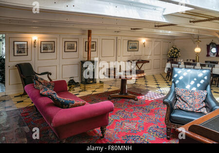 Masters cabin of HMS Warrior at the Portsmouth Historic Dockyard, Hampshire, England, UK. - Stock Photo