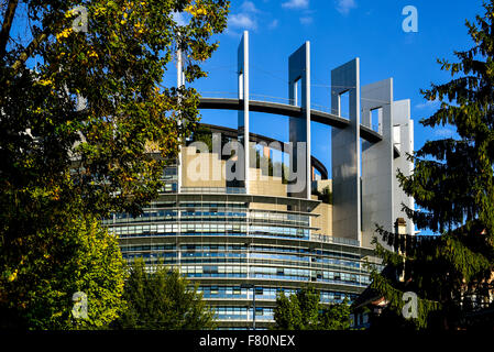 EU parliament, Strasbourg, Alsace, France - Stock Photo