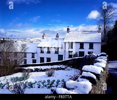Snow at Glenoe Village County Antrim Northern Ireland - Stock Photo