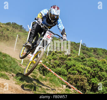 Downhill Mountain Bike Race Extreme Jump Stock Photo Royalty Free