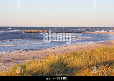 view on baltic sea, schönberger strand, schönberg (holstein), district of plön, schleswig-holstein, germany - Stock Photo