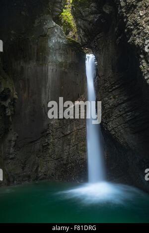Kozjak Waterfall, Triglav National Park, Slovenia - Stock Photo