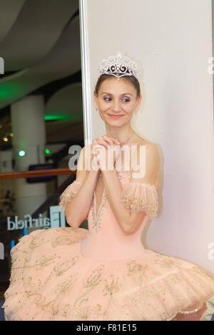Croydon, London, United Kingdom, 3rd December 2015. Natalia Romanova from the Saint Petersburg Classic Ballet in - Stock Photo