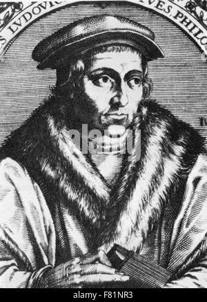 JUAN LUIS VIVES (1493-1540) Spanish-born philosopher and humanist - Stock Photo