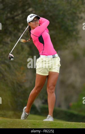 Daytona Beach, FL, USA. 4th Dec, 2015. Jennifer Brumbaugh during the third round of the LPGA Qualifying Tournament - Stock Photo