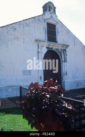 Porta Coeli church, built in 1607 as the chapel for the Convent of Santo Domingo (later demolished), San German, - Stock Photo