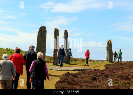 The Ring of Brodgar stone circle Mainland Orkney Islands Scotland UK - Stock Photo