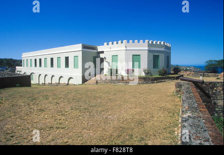Fortin Conde de Mirasol was the last Spanish fortress built in the New world, Isabel Segunda, Vieques Island, Puerto - Stock Photo